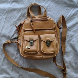 Pleather mini backpack